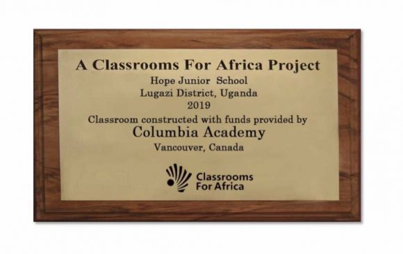 CA Charity Project – Classrooms For Africa